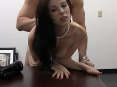 Rookie coed kara takes a cock in mouth & pussy in porn debut, Amateur, Big Tits, Brunette, Blowjob, Hardcore, Masturbation, Anal, Casting videos