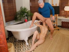 Rim4k. guy joins sweet gf in bathroom in time for sex full of rimming, Babe, Big Dick, Blowjob, Fetish, Teen (18+), Czech movies