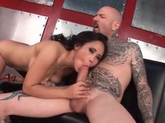 Wet asian mouth sucks his big cock and balls movies at sgirls.net