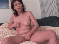 Solo milf fingers vagina and fondles her tits videos