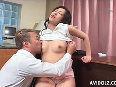 Japanese secretary fingered in wet hairy pussy videos