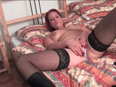 Curvy milf in stockings and boots masturbates solo movies at sgirls.net