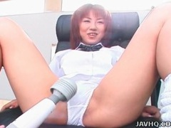 Japanese pussy vibrated through panties videos
