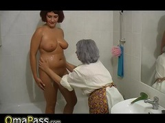 Bbw gray chubby granny with old mature woman in bath movies at lingerie-mania.com