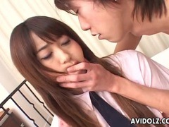 Cute japanese schoolgirl rubbed on her clitoris tubes at lingerie-mania.com
