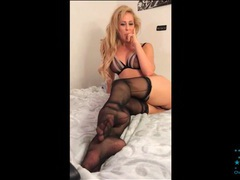 Sheer black stockings are sexy on cherie deville movies at find-best-pussy.com