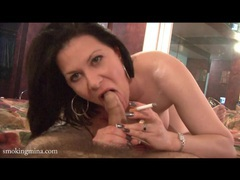 Pov striptease and blowjob with sexy smoker movies at find-best-hardcore.com