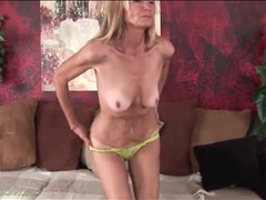 Old lady with a saggy ass does a striptease videos