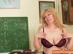 Well-endowed wifey teacher fucks herself plus a adult toy movies at kilopills.com