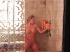 Through the window voyeur porn of showering girl videos