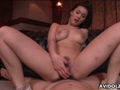 Japanese cunt grinds all over his dick tubes at japanese.sgirls.net