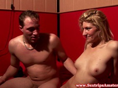 Blonde dutch whore jizzed on by tourists videos