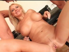 Three dicks invade slutty blonde milf deep videos
