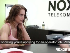 Slut getting fucked hard in a job interview videos