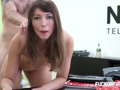 Young brunette assfucked hard and fired anyway videos