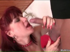 Yummy mature redhead blows him and bends over movies at kilotop.com