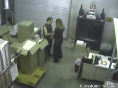 Blowjob in a warehouse from sexy slut videos