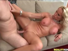 Big boobs blonde milf sits on a hard cock videos