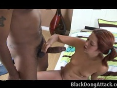 Redhead ponytail on a huge black cock videos