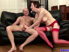English mature in red stockings fucked videos