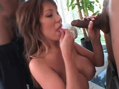 Ava devine deepthroats cocks in a blowbang videos