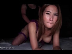 Nighttime anal sex with ladyboy in lingerie movies at find-best-hardcore.com