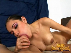 Arab with perfect lips gives a great blowjob videos