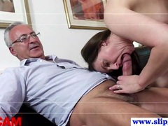 Old euro dude fucking two pussies movies at sgirls.net