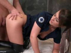 Cop slut in leather boots fucked doggystyle videos