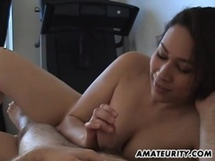 Amateur girlfriend with big tits sucks and fucks videos