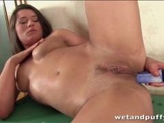 Teen dildo fucks her ass and fingers her cunt videos