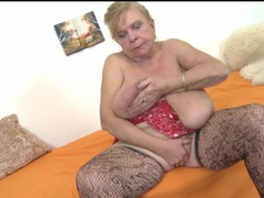 Granny sucks her tits and masturbates her cunt movies at find-best-lesbians.com
