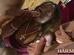 Harmony vision black slut takes on two white boys videos