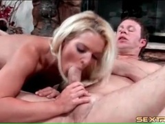 Slut swallows his knob and has anal sex videos