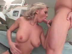 Bree olson blowjob goes deep on his cock tubes