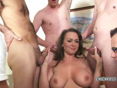 Curvy coed chloe reece ryder is fucking five guys movies at kilopics.net