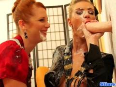 Lesbian genny sharing bukkake fun videos