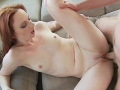 Redhead audrey splashed with cum videos