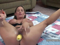 Busty housewife leeanna heart fucks her twat with squash movies at kilopics.net