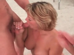 Cute mature blonde on her knees sucking dicks movies at lingerie-mania.com