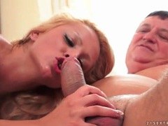 Old man rimmed out by a slutty blonde movies at kilopills.com