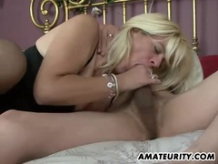Naughty amateur milf homemade action with creampie videos