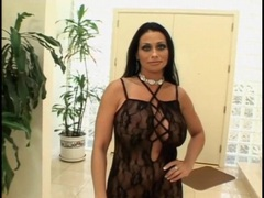 Huge boobs milf in black lingerie sucks dick movies at sgirls.net