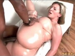 Oiled up milf slut sara stone fucked by bbc movies at kilosex.com
