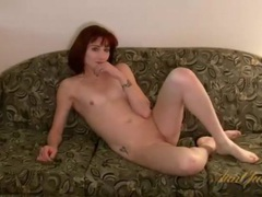 Sweater and jeans on sexy stripping milf redhead videos