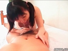 Japanese cutie in pink sweater eaten out videos