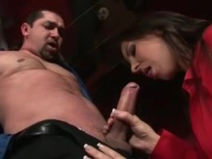 Stripper blows a guy on her stage movies at sgirls.net