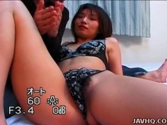 Lace panties japanese girl likes pussy rubbing videos