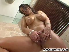 Very busty amateur girlfriend bathroom action movies at sgirls.net