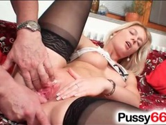 Old man fingers her sexy blonde pussy videos
